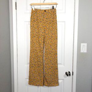 Urban Outfitters wide leg floral Puddle pants XS